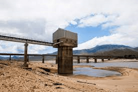 One of the abstraction pumps at the Theewaterskloof dam in 2018 as a result of three years of below average rainfall.